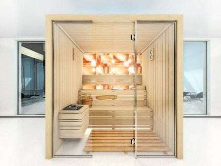 Fatada de sticla sauna