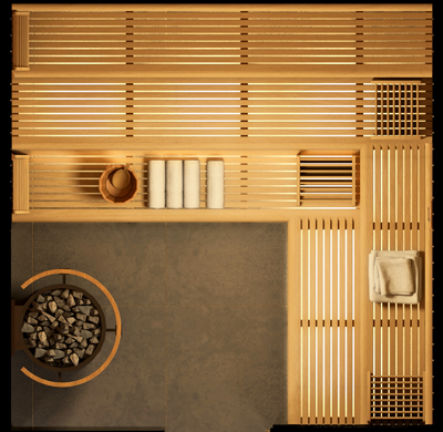 plan sauna STONE S7